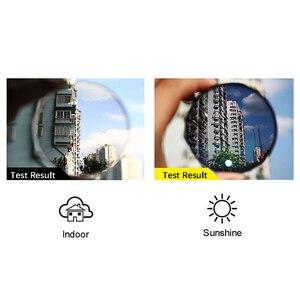 Image 3 - Chuyển Tiếp Photochromic Nữ Mắt Quang Học Cận Thị Hyperopia Tùy Chỉnh Cường Lực + RX RX Khung Kim Loại UV400 Kính Mát