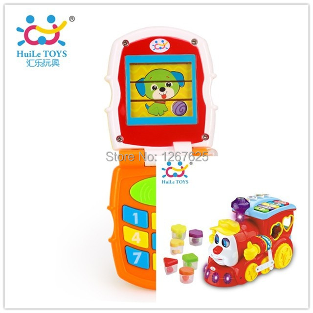 Brinquedos electronic Train Early Learning Baby Toys Bebe Music Mobile Best Gifts Free Shipping Huiel Toys 556 & 766
