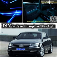 interior Ambient Light Tuning Atmosphere Fiber Optic Band Lights For Volkswagen VW Phaeton Inside Door Panel illumination Tuning
