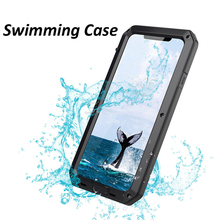Luxury Armor Metal Aluminum Waterproof Phone Case for iPhone XR X 6 6S 7 8 Plus XS Max Shockproof Dustproof Heavy Duty Cover цена