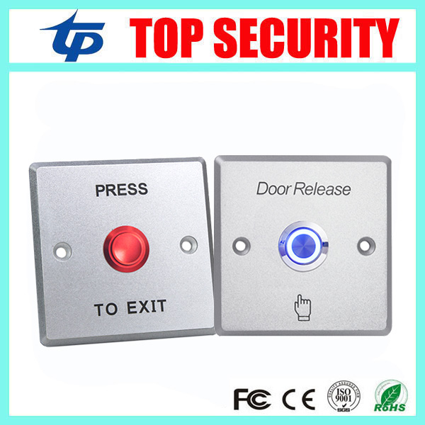 Zinc Alloy Door Exit Button Exit Switch With Led Light Door Push Exit Door Release Button Switch optional Several Colors lpsecurity stainless steel door access control led backlit led illuminated push button door lock release exit button switch
