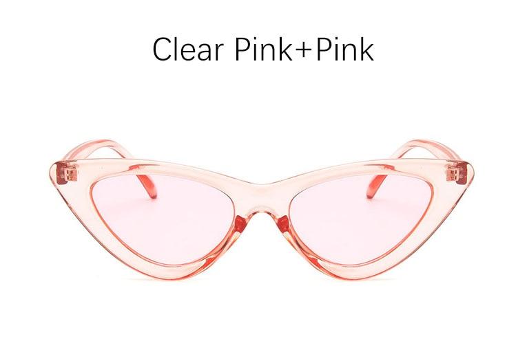 cat eye shade for women fashion sunglasses brand woman vintage retro triangular cateye glasses oculos feminino sunglasses Sexy 8