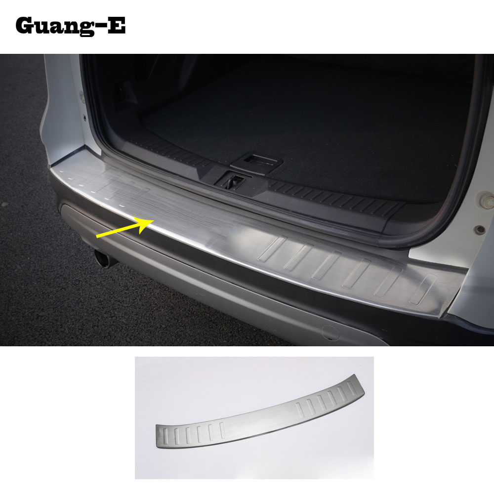 Car cover Stainless steel Back Rear Pedal Door Scuff Plate Frame outside Threshold Trunk 1pcs for Ford Kuga 2013 2014 2015 2016 screwdriver torx screwdriver repair for iphone 7 7g like 8 8g back cover housing battery cover door rear cover chassis frame
