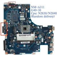 100% new ACLU9 / ACLU0 NM A311 G40 30 Motherboard For Lenovo G40 G40 30 with N2830 / N2840 CPU