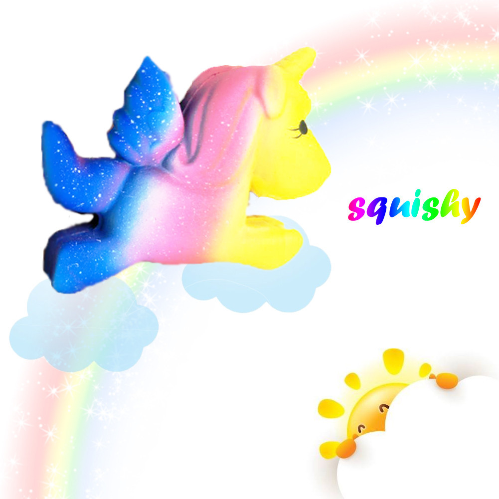 MUQGEW Childrens Toys Rainbow Unicorn Squishies Slow Rising Cartoon Doll Cream Stress Relief Toys Gift TOYS for Children