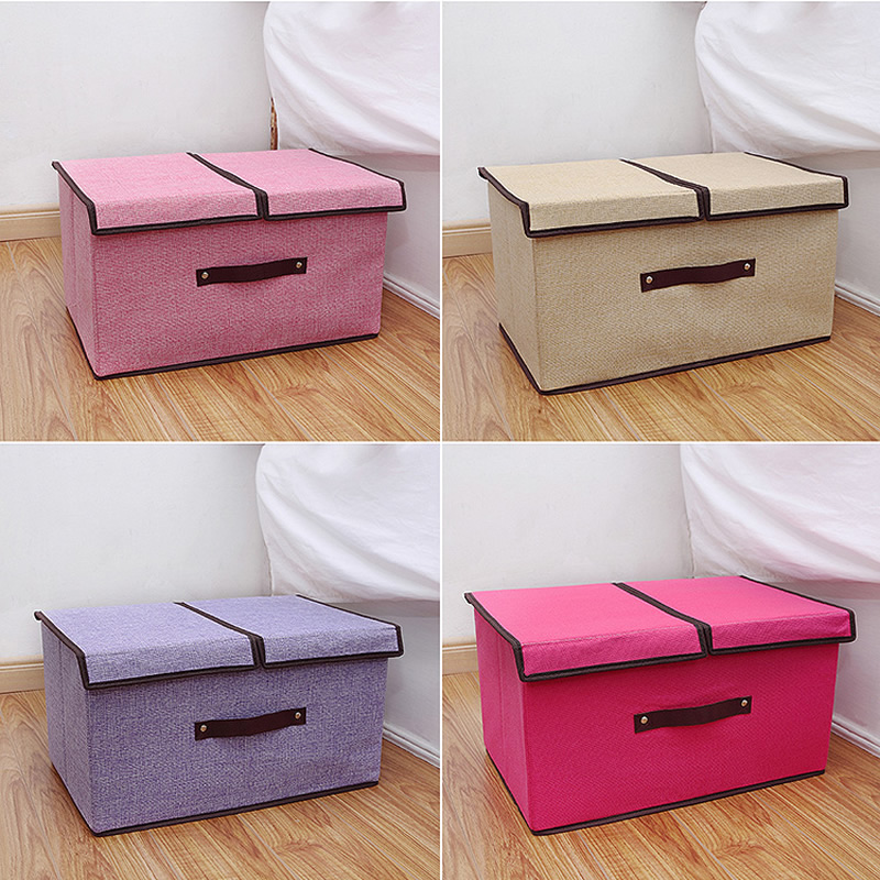 Haut Ton Cotton Fabric Clothing Organizer Storage Boxes Drawer Closet Organizers Boxes For Scarfs Socks Sundries Storage Box