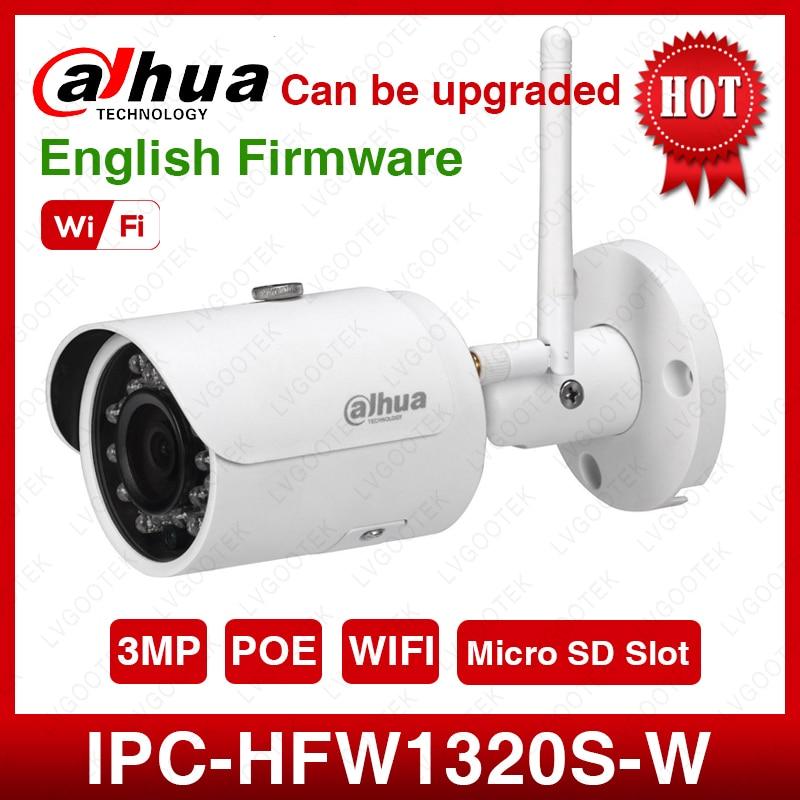 DaHua IPC HFW1320S W 3MP Mini Bullet IP Camera Day Night infrared CCTV Camera Support IP67
