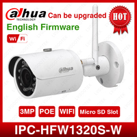 DaHua IPC HFW1320S W 3MP Mini Bullet IP Camera Day/ Night infrared CCTV Camera Support IP67 Waterproof Security Camera System