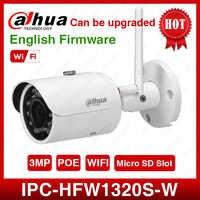 DaHua IPC-HFW1320S-W 3MP Mini Bullet IP kamera dzień/noc podczerwieni CCTV uchwyt na aparat IP67 wodoodporna kamera bezpieczeństwa System