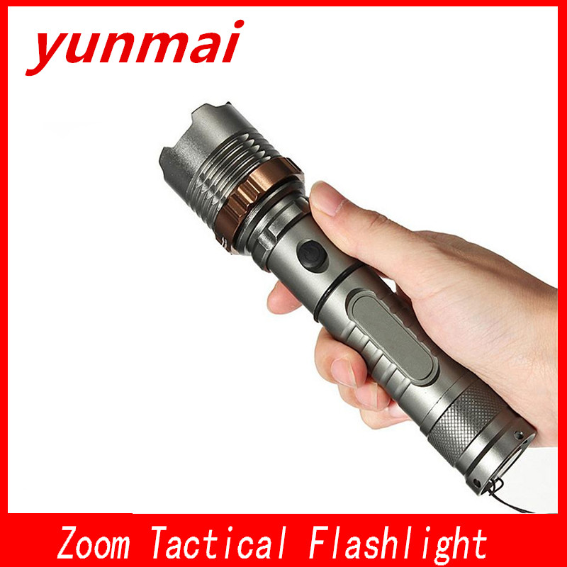 3800 Lumens CREE XM-L T6 5 modes LED Tactical Flashlight Rechargeable Torch Lantern Hunting Flashlight AAA/18650 Battery Charger 2000 lumen 5 modes cree xml t6 led tactical lantern torch flashlight zoomable focus led hunting lamps 18650 rechargeable battery
