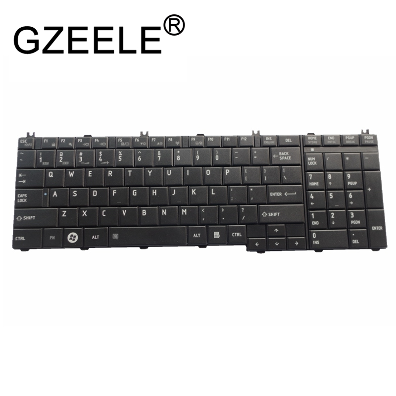 GZEELE New For Toshiba Satellite US Keyboard AEBL6U00110-US MP-09M83US6920 NSK-TN001 PK130CK1A00 NSK-TN0SV 9Z.N1X82.001 English