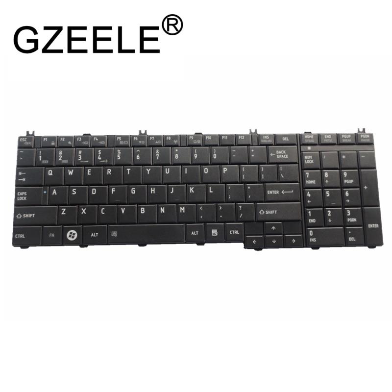 GZEELE New For Toshiba Satellite US Keyboard AEBL6U00110-US MP-09M83US6920 NSK-TN001 PK130CK1A00 NSK-TN0SV 9Z.N1X82.001 English