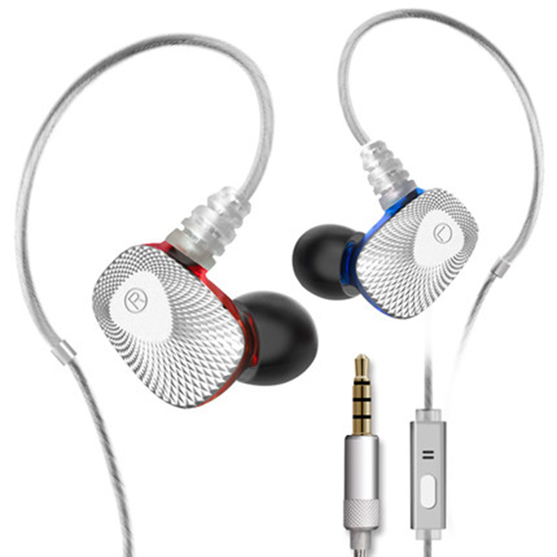Mifo R1 Dual Dynamic Stereo Wired Earphone Super Bass Headset  In-Ear 3.5mm AUX with Mic Headphones for Mobile Phone снпч epson stylus с62