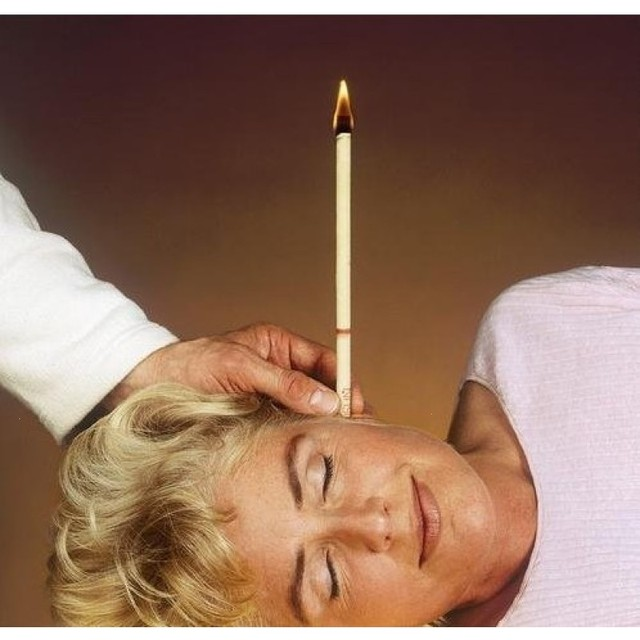 1 Pair Ear Candles Thermo Auricular Ear Treatment Bee Wax Removal