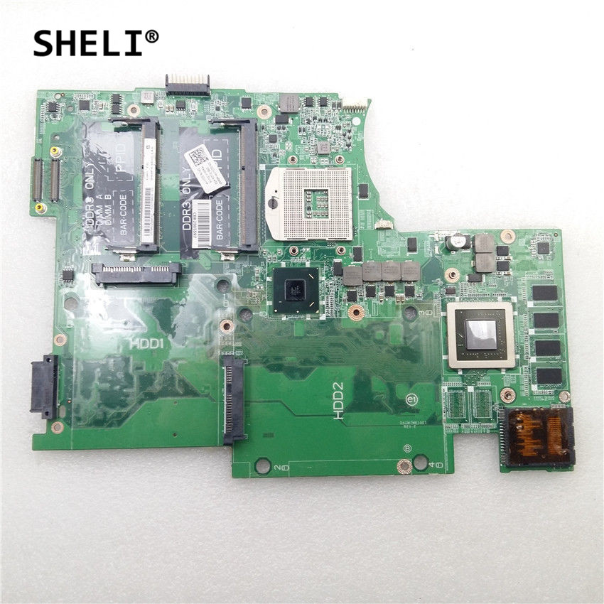 SHELI For Dell 17 L702X Motherboard with GT550M 1G DAGM7MB1AE1 CN-0JJVYM 0JJVYM JJVYM sheli for dell 1645 motherboard with hd 4670 1gb da0rm5mb8e0 cn 0y507r 0y507r y507r
