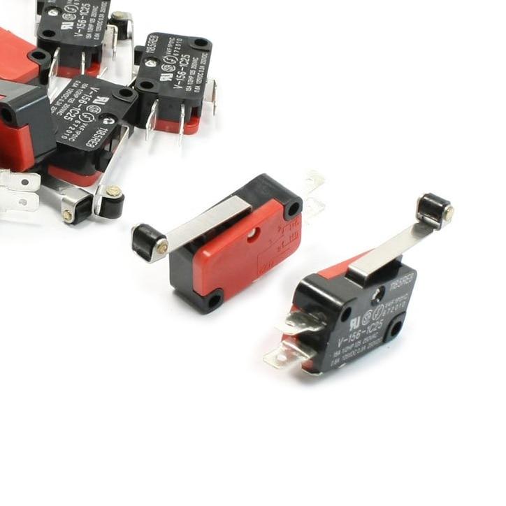 IMC Hot 10 Pcs Micro Limit Switch Long Hinge Roller Lever Arm Snap Action LOT