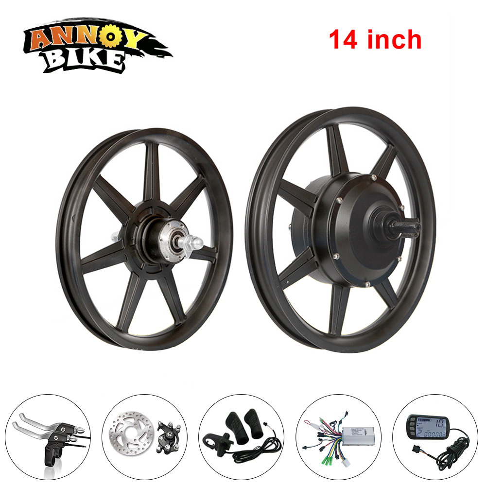 ANNOYBIKE 14 inch One Motor Wheel Kit Bicicleta Brushless Gear 36V48V250W Electric Bicycle Motor Drive Wheel Electric Bicycle