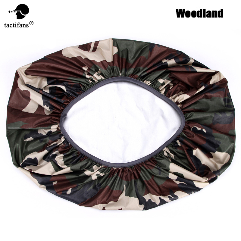 210D Camo Bag Rain Cover 35-70L Protable Waterproof  Anti-tear Dustproof Anti-UV Backpack Camping Hiking Silver Coating 8 Colors