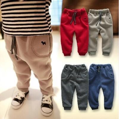 Calças crianças 2017 outono e inverno roupas novas do bebê calças de menino calças grossas 0-1-2-3 anos de idade infantes calças