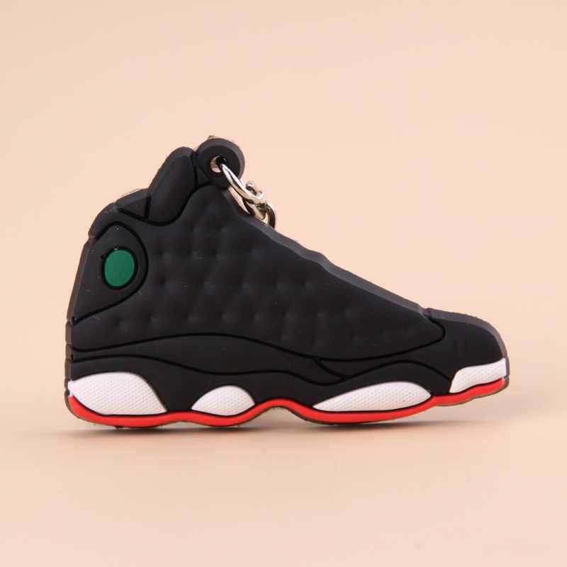 Nuovo Mini Jordan 13 Portachiavi Uomini di Scarpe Wome Bambini Anello Chiave del Regalo di Basket della Scarpa Da Tennis Catena Chiave di Supporto Chiave Porte Clef