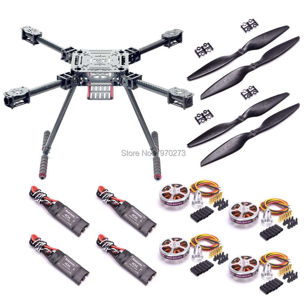 Upgrade F550 ZD550 550mm Carbon Fiber Quadcopter + <font><b>5010</b></font> 360KV / 750KV Motor + 40A 2-6S OPTO Brushless ESC image