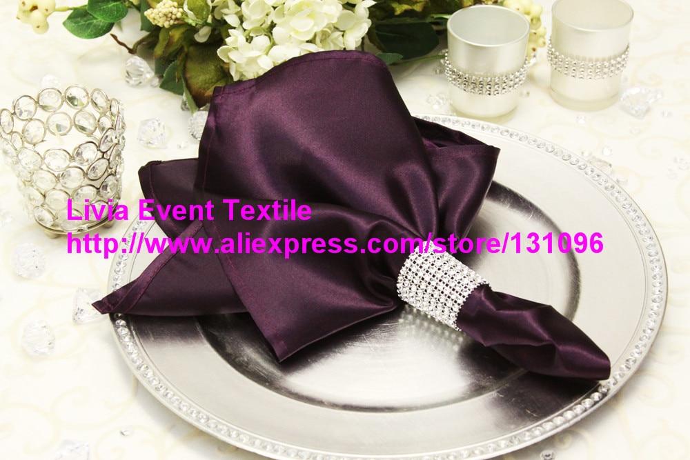 100pcs #82 Plum Napkin 45x45cm ,Table Napkin For Weddings Events &Party&Restaurant &Hotel