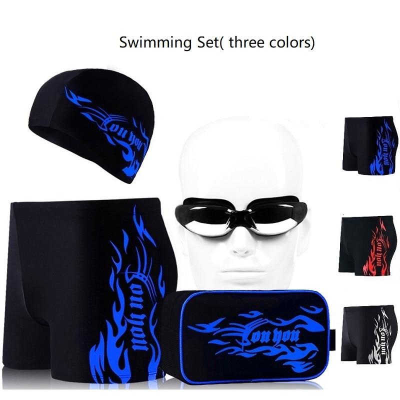 Hot mænd svømning beskyttelsesbriller svømning cap mænd Swim Eyewear mænd badetøj badedragt svømning shorts til mænd galvaniserede briller