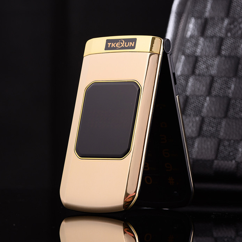 TKEXUN M3 Women Flip Phone With Double Dual Screen Dual Sim Camera MP3 MP4 2 4