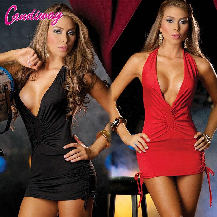 Женское короткое платье, хит продаж, сексуальный костюм с V-образным вырезом и открытой спиной, новая Клубная одежда, ночная рубашка для вече...