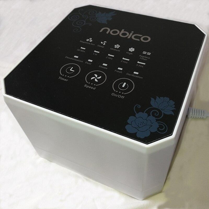Nobico Negative Ion Generator Air Purifier For Home With True HEPA Filter Desktop Mini Air