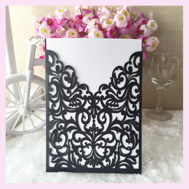 2017 hot sale new design greeting card laser cut paper
