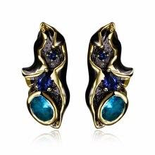 Love Deluxe Earrings-Girlfriend gift 100% Top quality Geometric Black gold color fashion Bohemian earrings drop