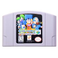 N64Game Goemons Great Adventure Video Game Cartridge Console Card English Language US Version