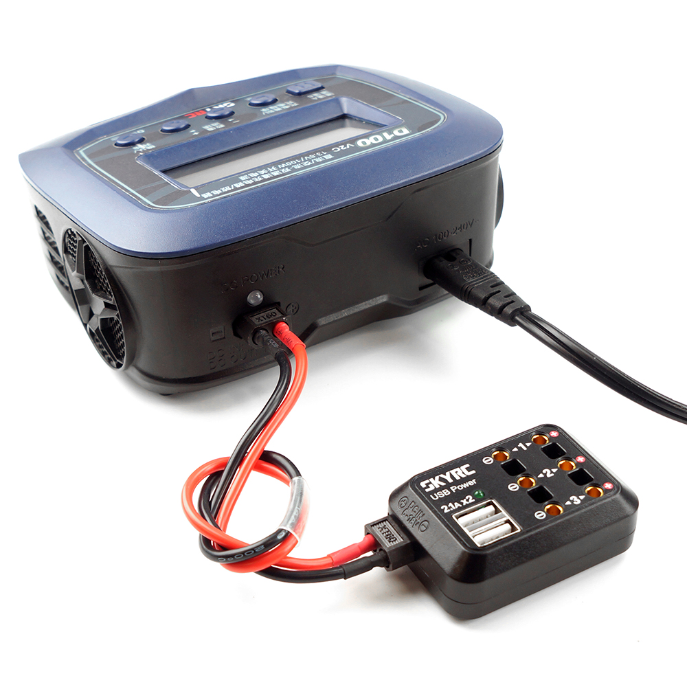SKYRC D100 V2 AC / DC Dual Balance Charger Discharger / Power Supply for LiPo/ LiFe/ LiIon/ LiHV/ NiMH/ NiCd/ Pb Battery