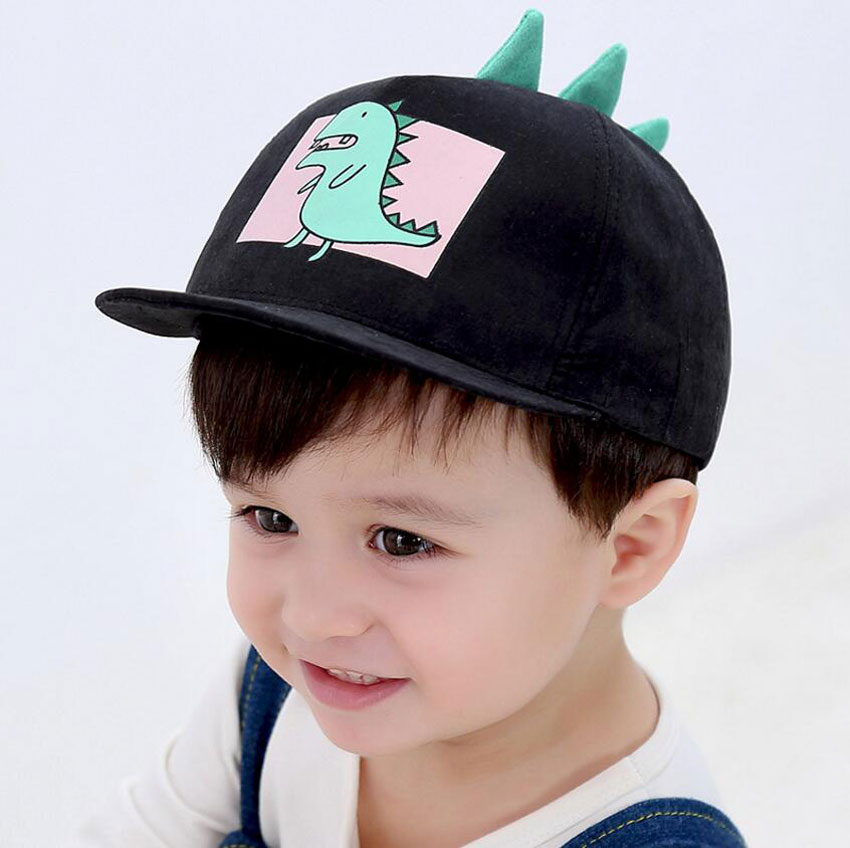 Children   Baseball     Cap   For Kids 2019 Spring New   Baseball   Hat Adjustable Girl Boys   Caps   Cartoon Animal Print Plat Brim   Cap   M7185