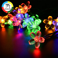Coversage Outdoor Solar Christmas 7M Lights For Garden Decoration Waterproof Holiday Lighting Flowers Fairy Lamps String Lights
