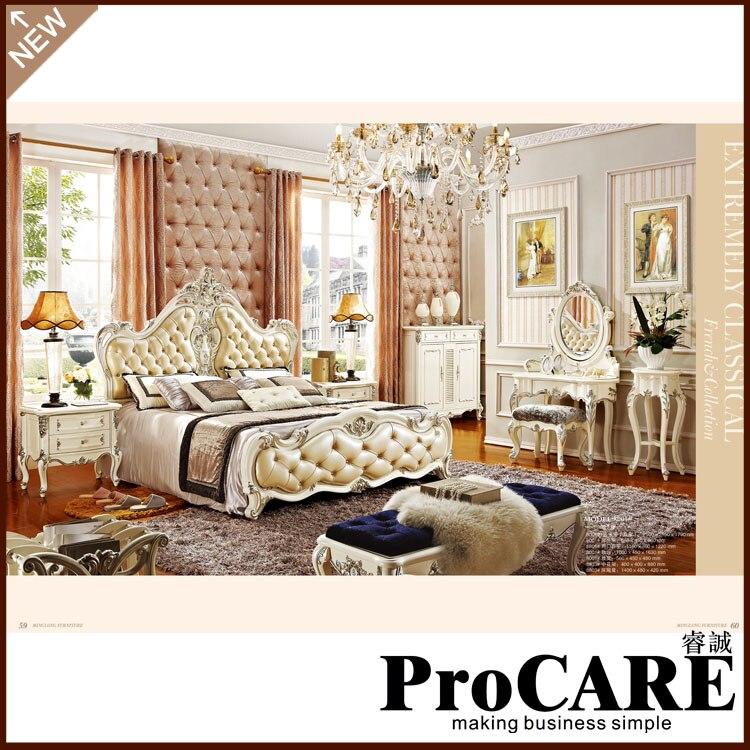 King Size Luxury Bedroom Furniture Set 1 8m Big Bed European Style Bedroom Sets
