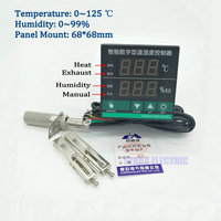 Digital PID Intelligent Oven Switchgear Temperature And Humidity Controller With Sensor
