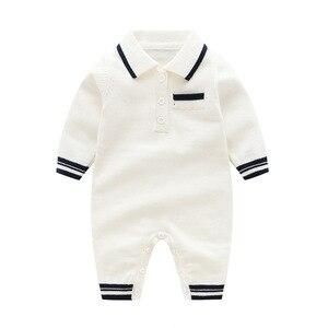 Image 3 - תינוק לסרוג בנים Rompers ארוך שרוול סרוג יילוד תינוק בגדים חם ילד של סתיו בגדי סריגה Rompers 0 24m חמוד סרבל