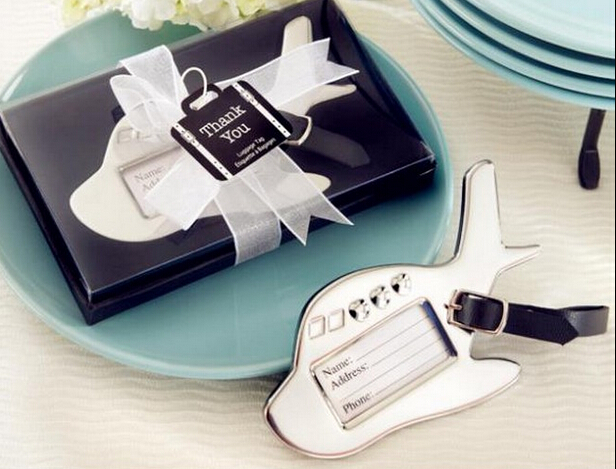 Free Shipping 200pcs/lot Wedding Favors Airplane Luggage Tag