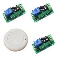 New Remote Control Switch DC9V 12V 24V 3 Receiver Wall Transmitter Wireless Power Switch315 433 Radio