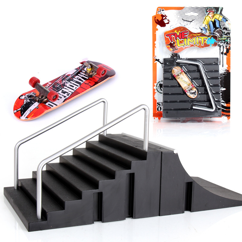 1 Piece Basic Version Skate Park With Fingerboard Ramp Parts For Fingerboard Finger Skateboards TechDeck Toys For Kids