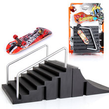 1 шт базовая версия скейтборд парк с рампой для доски пальцевые