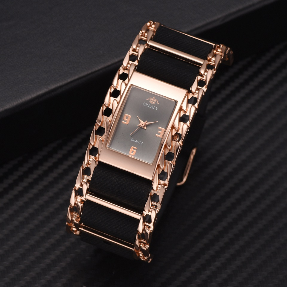 Luxury Gold Bracelet Quartz Clock Wrist Watches For Women Fashion Stainless Steel Creative Dress Watch Relogio Feminino