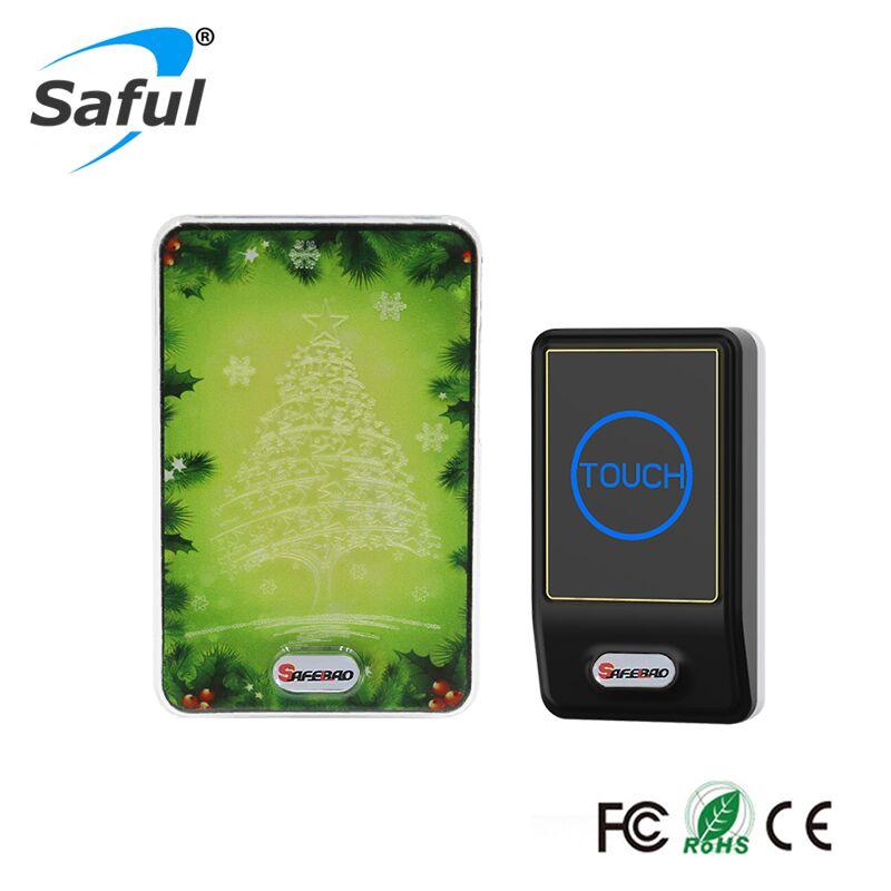 Saful Waterproof Wireless DoorBell Home Gate Security Hot sale1 Outdoor Transmitter+1 Indoor Wireless Doorbell Receiver hot sale wireless doorbell easy