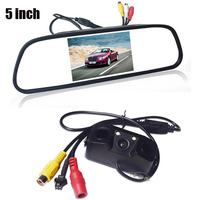 3 In 1 Car Parking Sensors Rearview Camera Reverse 5 Inch 800 X 480 Mirror Monitor