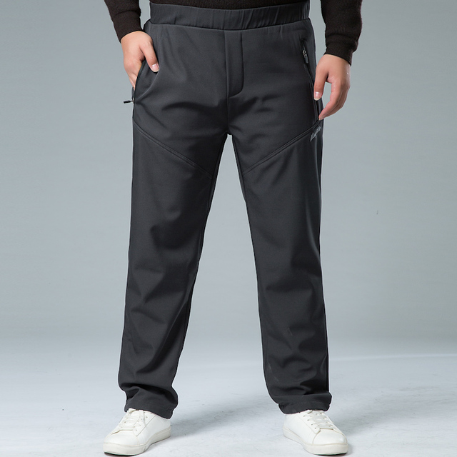 Mens Winter Pant Thick Warm Cargo Pants Casual Outwear Pockets Trousers Plus Size 8XL 7XL Fashion Loose Baggy Pant for Worker 4