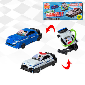 Image 4 - 반다이 voov 변형 구조 경찰 트랜스 포터 엔지니어링 플라스틱 모델 차량 장난감 자동차 어린이 선물 새로운