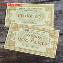 Pulaqi 1PCS Rock Style Basket Plateforme Ticket Platform 9 3/4 London To Hogwart Wizarding World Train Decor Collection