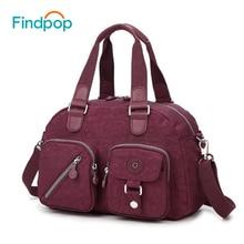 Findpop casual bolsos mensajero de las mujeres 2017 bolsos de mujer de marcas famosas bolsos de lona de las mujeres bolsos crossbody de las mujeres